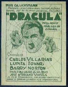 Dracula Spanish language version
