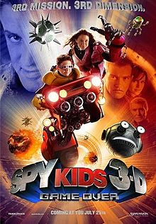 Spy Kids 3 D Game Over