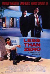 Less Than Zero film